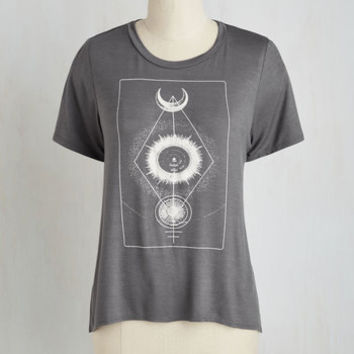 Cosmic Short Length Short Sleeves Lucky for Universe Top