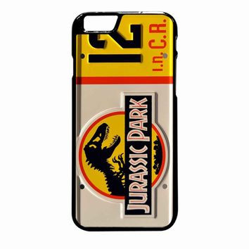 Jurassic Park Jeep License Plate 12 iPhone 6 Plus case