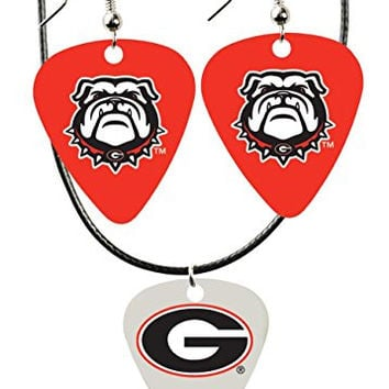 College Guitar CGPW1-GA Game Day Pick Wear Ear Ring Necklace Pack