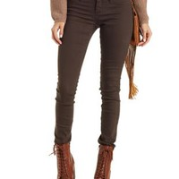 Olive Cello Colored Skinny Jeans by Charlotte Russe