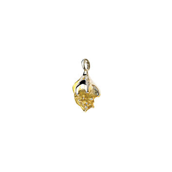 She Sells Sea Conch Shells Sterling Silver Gold Charm