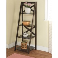 X 4-Tier Shelf, Multiple Finishes - Walmart.com