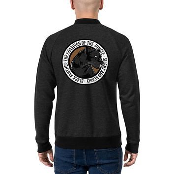 Men's Vintage Bomber Jackets Coat Winter Outfit Black Panther The Guardian Of The Jungle Silent And Deadly