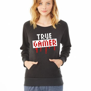 True Gamer Stamp_ ladies sweatshirt