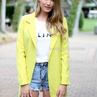 CITRUS JACKET , DRESSES, TOPS, BOTTOMS, JACKETS & JUMPERS, ACCESSORIES, 50% OFF , PRE ORDER, NEW ARRIVALS, PLAYSUIT, COLOUR, GIFT VOUCHER,,Yellow,LONG SLEEVES Australia, Queensland, Brisbane
