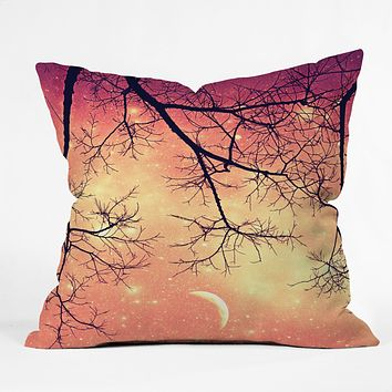 Shannon Clark Twinkley Pink Throw Pillow
