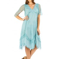 Nataya AL-241 Jacqueline Vintage Style Party Dress in Turquoise