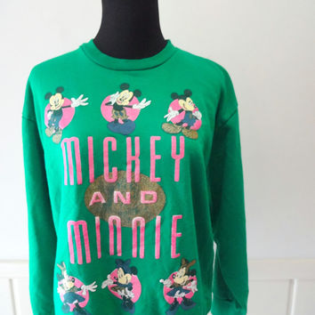 Vintage Mickey and Minnie Mouse Disney Sweatshirt 1980s