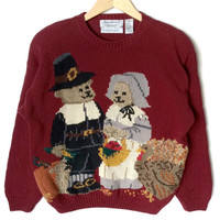 Teddy Bear Pilgrims Thanksgiving Ugly Sweater