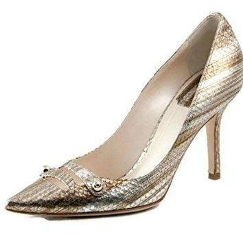 Dior Christian Chic escarpin Gold Leather Pumps, 37 US 7…