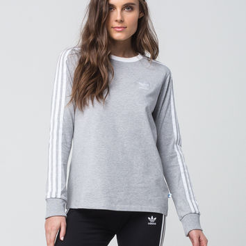 ADIDAS 3 Stripes Womens Long Sleeve Tee | Raglans + L/S Tees