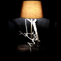 BoGaLeCo.com / Ligths / Lamps / reclaimed wood / White tree lamp