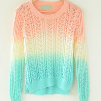 Fanewant — CUTE GRADIENT COLORFUL SWEATER