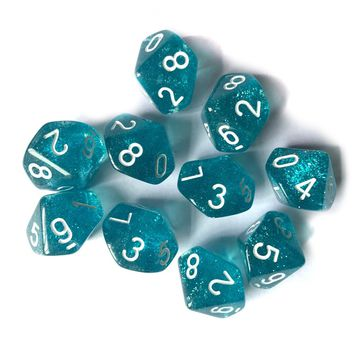 10Pcs 10 Sided Dice D10 Polyhedral Dices For Party Bar Gambling Group Gathering Dungeons and Dragons RPG Funny Games Tool