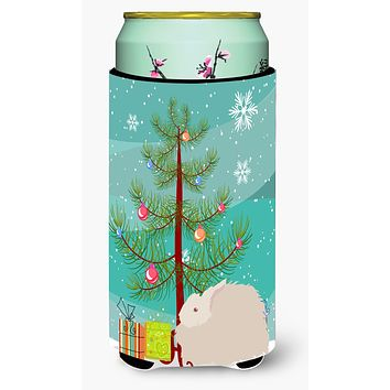 Fluffy Angora Rabbit Christmas Tall Boy Beverage Insulator Hugger BB9326TBC