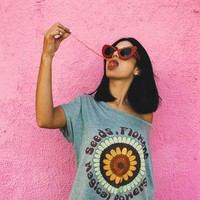 Women's cute and soft Magic Powers graphic t shirt and printed tee