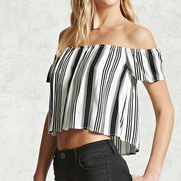 Striped Off-the-Shoulder Top