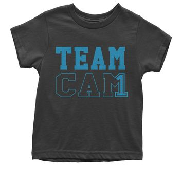 Team Cam #1 Quarterback Football Youth T-shirt