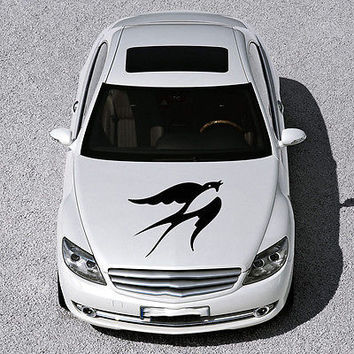 BEAUTIFUL BIRD FLIES ANIMAL ART DESIGN HOOD CAR VINYL STICKER DECALS SV1290