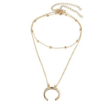 Shop Gold Crescent Moon Necklace on Wanelo 117f29a4dcf0