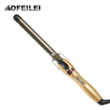 Rizador Pelo Professional Ceramic Curling Iron Digital Hair Curlers Styler Heating Styling Tools Eu Plug Aofeilei Wand Irons