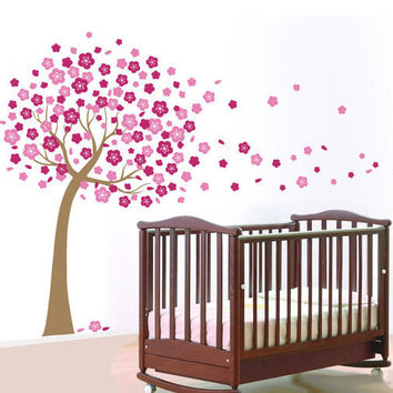 Cherry Blossom Tree Wall Decal Wall Sticker Home Decal Home Sticker