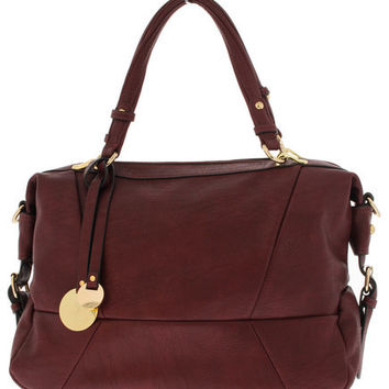 ANGELINA BURGUNDY HANDBAG