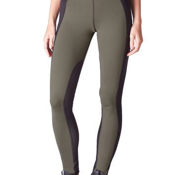 Michi High Waist Summit Leggings - Black/Olive