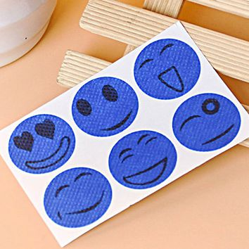 Anti Mosquito Repeller Sticker 10 Packs/60 Stickers Cute Mosquito Repellent Patch Smiling Face Type Drive Midge Mosquito Killer