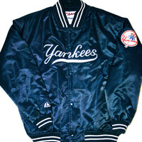 Vintage New York Yankees Majestic Satin MLB Jacket Size XL