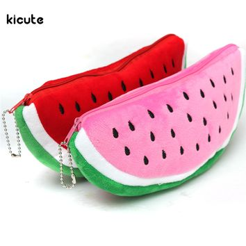 Practical Big Volume Watermelon School Kids Pen Pencil Bag Case Gift Cosmetics Purse Wallet Holder Pouch Office School Supplies