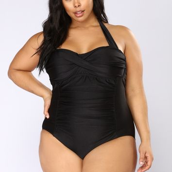 Let's Mingle Swimsuit - Black