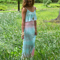 Canyon Lake Mint Tie Dye Tank Maxi Dress
