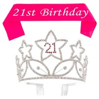 21st Birthday Tiara and Sash