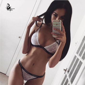 2pcs Sexy Lace  Hollow Out  Women Sets Sexy Outfits  Hammock Sleeveless Shoulder Strapless Crop Top Shorts Pant Set