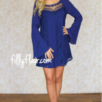 Sweet and Sassy Dress in Navy - What's New