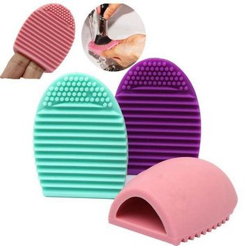 PEAPUNT 1X Silicone Cleaning Cosmetic Make Up Washing Brush Gel Cleaner Scrubber Tool Foundation Makeup Cleaning Tools Mat Pad 6 Colors