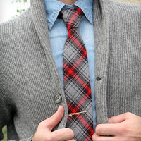 Red Plaid Tie