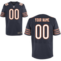 Men's Nike Chicago Bears Customized Elite Team Color Jersey on Promotion - Online Coupons Discount For Cheap