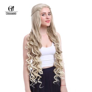 ROLECOS Game of Thrones Cosplay Daenerys Targaryen Cosplay 100cm/39.37inches Heat Resistant Synthetic Hair