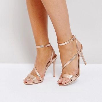 Miss KG Asymmetric Heel Sandals at asos.com