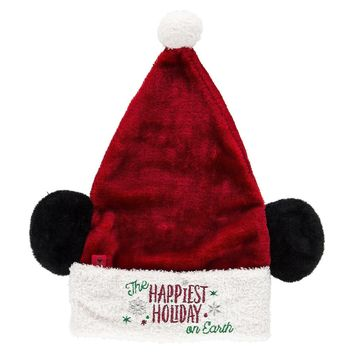 Disney Parks The Happiest Holiday on Earth Mickey Ear Hat Fro Adults New w Tag