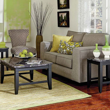One Coffee Table and Two End Tables   Boroughs 3 Piece Table Set   American Freight