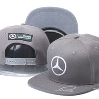 Lewis Hamiltons Signature Edition Mercedes Benz Dark Gray Snapback Hat