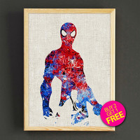 Spiderman, art print, poster, superhero poster, Marvel, Art, Heroes Illustrations, Abstract, Wall, Comic poster, Gift, Home Decor- 397s2g