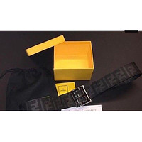 Fendi Black Zucca Authentic belt Size 32-38 box included