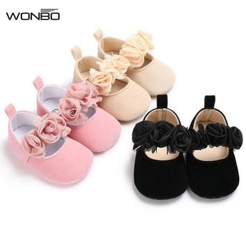 Infant Newborn Soft Sweet Mary Jane Baby Shoes