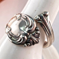 sterling silver BIRKS spoon ring. size 7. spoon jewelry. Canadian silver spoon ring.  No.0069