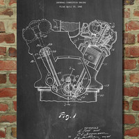 Internal Combustion Engine Poster, Internal Combustion Engine Patent, Internal Combustion Engine Print, Internal Combustion Engine Art