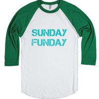 sunday funday-Unisex White/Evergreen T-Shirt